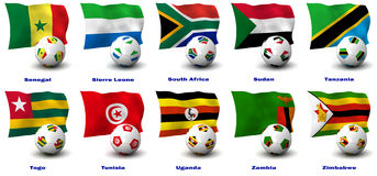 African Soccer Nations - 4 of 4 Royalty Free Stock Image