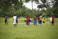 African soccer team during training Royalty Free Stock Image