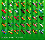 African soccer teams Royalty Free Stock Images