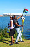 African soccer world cup fans Stock Photo