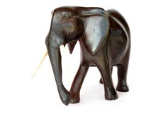 Hand carved elephant stock images