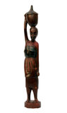 African souvenir - wooden handicraft woman Stock Photography