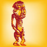 African standing wooden dummy Royalty Free Stock Image