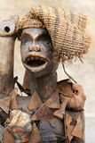 African statue. Handmade old statue African ornament Stock Image