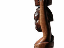 African statue. Ebony statue of African woman's profile Stock Images