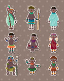 African stickers. Cartoon vector illustration Stock Images
