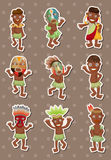 African stickers. Cartoon vector illustration Royalty Free Stock Images