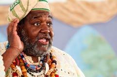 African storyteller speech stock image