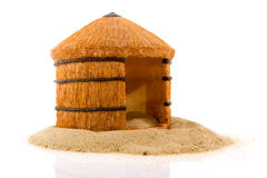 African straw hut Royalty Free Stock Images