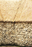 African straw roof Royalty Free Stock Photo