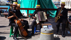 African street band performs on the Waterfront in Capetown, Sout Stock Images