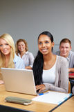 African student with computer Stock Photo