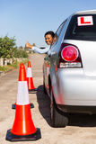 African student driver Royalty Free Stock Photography