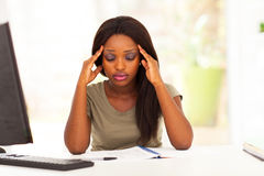African student headache Stock Photos