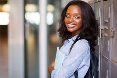 African student locker Royalty Free Stock Image