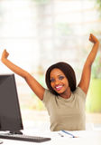 African student stretching Stock Image