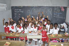 AFRICAN STUDENTS IN CLASS Stock Image