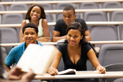 African students classroom Royalty Free Stock Photography