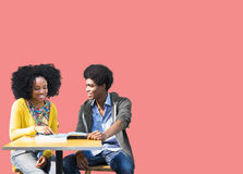 African Students Studying Learning Education Stock Image