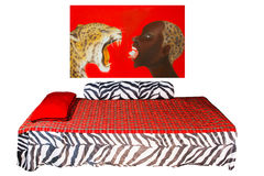 African style bedroom Stock Photography
