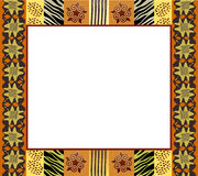 African style frame 1. An illustration of an African style frame in earth tones. Space for your text or picture stock illustration