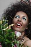 African style make-up Stock Photo