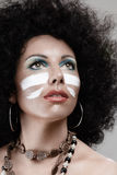 African style make-up Royalty Free Stock Photo