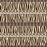 African style pattern. African style seamless with wild zebra royalty free illustration