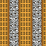African style pattern with animal skin Royalty Free Stock Photos