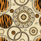 African style seamless background Stock Photo