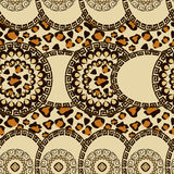 African style seamless with cheetah skin pattern Stock Photos