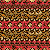 African style seamless with cheetah skin pattern Royalty Free Stock Photography