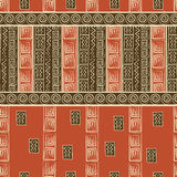 African style seamless pattern. African style abstract seamless pattern Royalty Free Stock Image