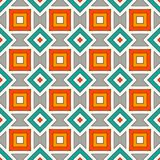 African style seamless pattern with geometric figures. American native design background. Ethnic and tribal motif. African style seamless pattern with geometric Royalty Free Stock Photography