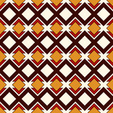 African style seamless pattern with geometric figures. Repeated diamond ornamental abstract background. Ethnic motif. African style seamless pattern with Royalty Free Stock Image
