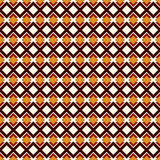 African style seamless pattern with geometric figures. Repeated diamond ornamental abstract background. Ethnic motif. African style seamless pattern with Stock Images