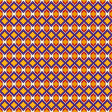 African style seamless pattern with geometric figures. Repeated diamond ornamental background. Ethnic and tribal motif. Stock Images
