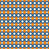 African style seamless pattern with geometric figures. Repeated diamond ornamental background. Ethnic and tribal motif Royalty Free Stock Images