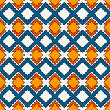 African style seamless pattern with geometric figures. Repeated diamond ornamental background. Ethnic and tribal motif Stock Photos