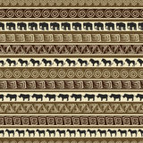African style seamless pattern with wild animals. African seamless pattern with wild animals Stock Photography