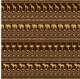 African style seamless pattern with wild animals. Stock Photography