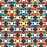 African style seamless surface pattern with abstract figures. Bright ethnic print. Geometric ornamental background Stock Photo