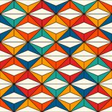African style seamless surface pattern with abstract figures. Bright ethnic print. Geometric ornamental background. African style seamless surface pattern with Stock Photography