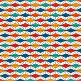 African style seamless surface pattern with abstract figures. Bright ethnic print. Geometric ornamental background. African style seamless surface pattern with Royalty Free Stock Photo