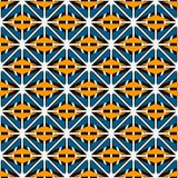 African style seamless surface pattern with abstract figures. Bright ethnic and tribal print grid geometric forms. African style seamless surface pattern with Royalty Free Stock Photo