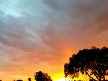 African summer sunset