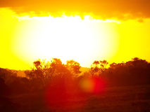 African Sun. The sun set's on another day in Africa Royalty Free Stock Image