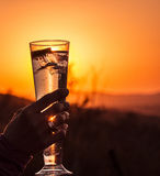 African sundowner Royalty Free Stock Images