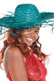 African with sunhat Royalty Free Stock Photos