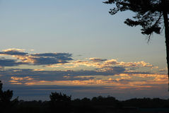 African sunrise or sunset sky. The colorful sky at the horizon in Sunridge Park, Port Elizabeth, South Africa in the early morning at sunrise Royalty Free Stock Images